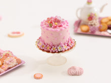 Load image into Gallery viewer, Pretty Pink Blossom and Polka Dot Cake - Miniature Food