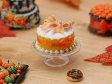 Load image into Gallery viewer, Orange and White Ribbon Cake for Autumn - Miniature Food