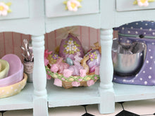 Load image into Gallery viewer, Unique Easter Shelf Unit Filled with Handmade Items- Decorated Miniature Furniture