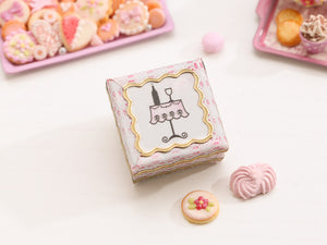 French Café / Bistro Pink Tin of Cookies - Miniature Food