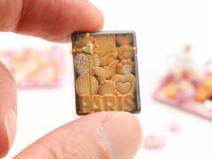 Gift Box of French Butter Cookies from Paris - Miniature Food