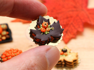 Autumn Leaf Millefeuille Layered Cake (Chocolate or Cookie) - Miniature Food