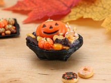 Load image into Gallery viewer, Halloween Trick or Treat Basket - 12th Miniature Food