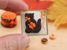 Load image into Gallery viewer, Black Cat Chocolate Layered Millefeuille - Miniature Food