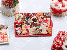 Load image into Gallery viewer, Christmas Cookies Selection on Tray 2020 A - OOAK - Handmade Miniature Food