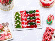 Load image into Gallery viewer, Christmas Cookies and Treats - Elf Hat, Gift, Wrapped Candy, Santa - Handmade Miniature Food