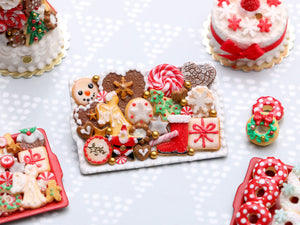 Christmas Cookies Selection on Tray 2020 E - OOAK - Handmade Miniature Food