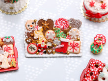 Load image into Gallery viewer, Christmas Cookies Selection on Tray 2020 E - OOAK - Handmade Miniature Food
