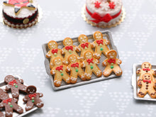 Load image into Gallery viewer, Tray of Cookie Men - One Escaping! (White Frosting) - Handmade Miniature Food