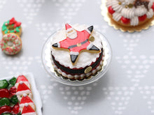 Load image into Gallery viewer, Giant Santa Cookie Christmas Cake - Handmade Miniature Food in 12th Scale
