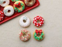 Load image into Gallery viewer, Four Loose Miniature Autumn Donuts - Miniature Food