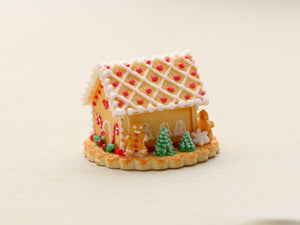 Christmas Cookie House OOAK - Handmade Miniature Food
