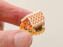 Load image into Gallery viewer, Christmas Cookie House OOAK - Handmade Miniature Food