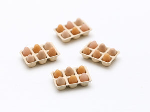 Tray of Half a Dozen Eggs - Miniature Food