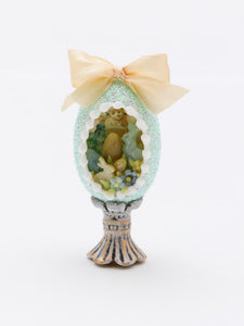 Panoramic Easter Egg - OOAK (one of a kind) Miniature Easter Decoration