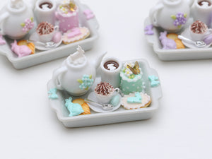 Easter Treats Teatime Tray - Choice of Pink, Lilac or Aqua/Turquoise