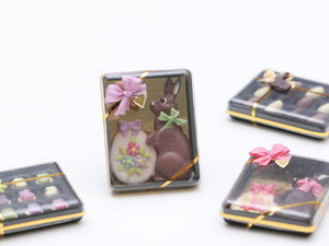 Milk Chocolate Rabbit and Easter Egg Cookie Gift Box - Miniature Food