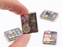 Load image into Gallery viewer, Milk Chocolate Rabbit and Easter Egg Cookie Gift Box - Miniature Food