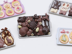 Assorted Easter Chocolates on Tray - Miniature Food