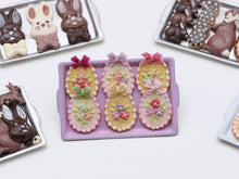 Load image into Gallery viewer, Beautiful Easter egg-Shaped Cookies Decorated with Spring Blossoms - Miniature Food