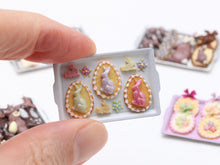 Load image into Gallery viewer, Easter Cookies and Bunny Candies on Tray - Miniature Food