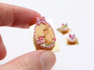 Easter Egg Shaped Millefeuille Sablé Layered Cookie (Pink or Lilac)