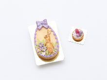 Load image into Gallery viewer, Easter Egg Shaped Millefeuille Sablé Layered Cookie (Pink or Lilac)