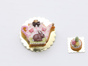 Easter Teapot-Shaped Layered Cookie (Millefeuille Sablé)