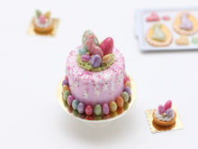 Load image into Gallery viewer, Pink Cake with White Drips for Easter - Miniature Food