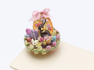 Easter Basket filled with Easter Goodies - Miniature Food