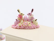Load image into Gallery viewer, White and Pink Chocolate Rabbit Family - Miniature Food