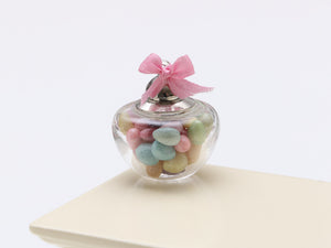 Glass Jar of Easter Egg Candy Bonbons - Miniature Food