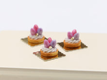 Load image into Gallery viewer, Easter Egg Cream Tartlet Individual Pastry - Pink or Spring Colours - Miniature Food