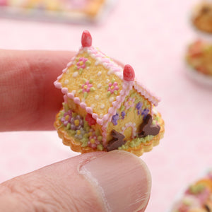 "Handmade Miniature ""Blossoms"" Cookie Easter House - OOAK - Miniature Food in 12th Scale"