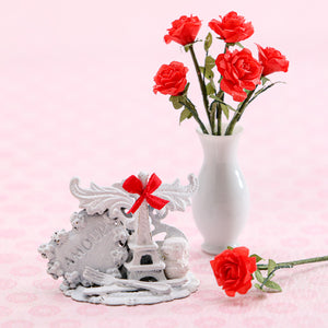 """Meet Me in Paris"" Shabby Chic Valentine's Display - Handmade Miniature Decoration"