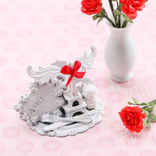 "Load image into Gallery viewer, ""Meet Me in Paris"" Shabby Chic Valentine's Display - Handmade Miniature Decoration"