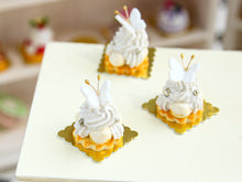 Load image into Gallery viewer, Vanilla St Honoré French Pastry with Butterfly Decoration - Miniature Food