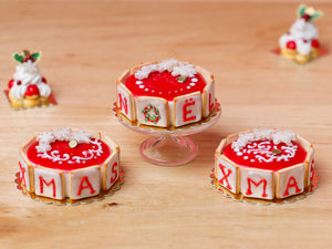 Christmas Cake - NOËL Letter Cookies - A - 12th Scale Miniature Food