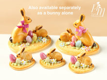 Load image into Gallery viewer, Easter Cookie Rabbit Family Display (C) - Miniature Food in 12th Scale