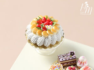 Strawberries and Cream Cake - Miniature Food