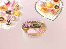 Load image into Gallery viewer, Gift Box of French Eclairs - Pink and Chocolate - Miniature Food for Dollhouse 12th scale 1:12