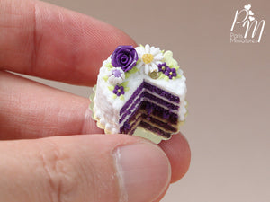 Purple Velvet Layer Cake - Miniature Food for Dollhouse in 12th scale