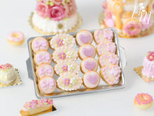 Load image into Gallery viewer, Light Pink-Themed Butter Cookies on Metal Baking Tray - Miniature Food