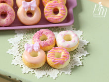 Load image into Gallery viewer, Four Loose Pink Iced Miniature Donuts - Miniature Food
