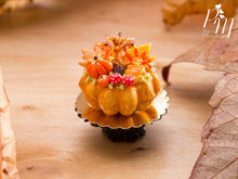 Load image into Gallery viewer, Autumn Cake Decorated with Autumn Tree, Pumpkins, Mushrooms - 12th Scale Miniature Food