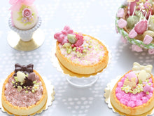 Load image into Gallery viewer, Cream Tarte – Egg-Shaped decorated with Easter Eggs, Bunny Candy, Blossoms - Miniature Food