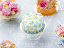 Load image into Gallery viewer, Classic 'Forget-Me-Not' Hand-piped Cake - Miniature Food