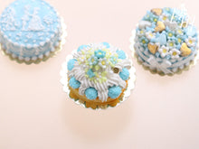 Load image into Gallery viewer, Blue Blossoms Spring St Honoré French Pastry - Miniature Food