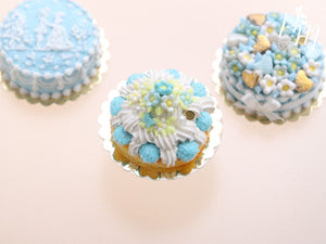 Blue Blossoms Spring St Honoré French Pastry - Miniature Food