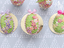 Load image into Gallery viewer, Easter Egg Cake with Spring Garden Blossom Decoration  (B - Light Pink) - Miniature Food